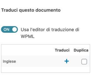 usare editor avanzato wpml