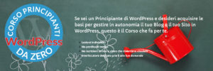 corso wordpress principianti assoluti