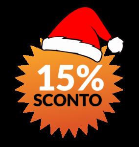 15 per cento sconto